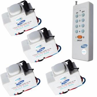 Bộ 04 công tắc điều khiển từ xa IR-RF TPE RI01+ 01 Remote 8 nút