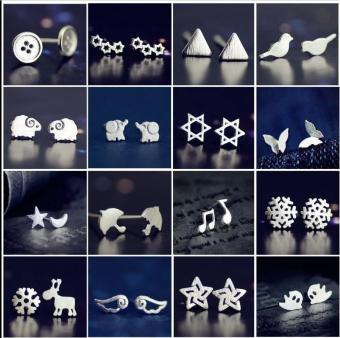 Bông tai nữ (Khuyên tai) hình đôi cánh thiên thần đẹp lạ phong cách Simple Style Châu Âu (BT18)