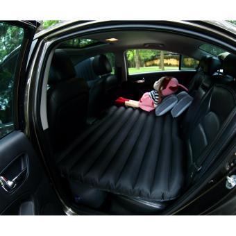 Giường hơi ô tô cao cấp Oxford trơn màu đen