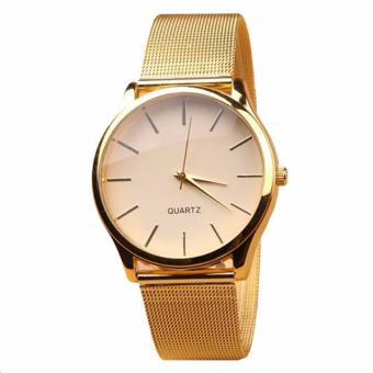 Đồng hồ nam dây kim loại (Vàng)