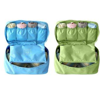 Bộ 2 túi đựng đồ lót du lịch Monopoly underwear (Xanh dương - xanh rêu)
