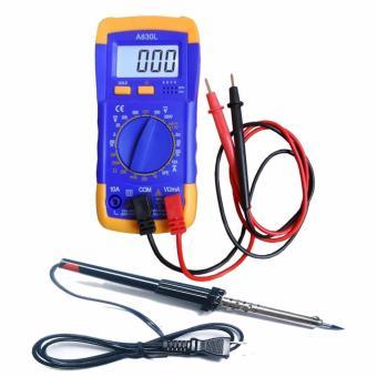 Đồng hồ đo dien vạn năng Digital Multimeter A830L kèm Mỏ hàn chì 40w