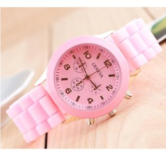 Đồng hồ nữ dây nhựa GENEVA thời trang (Hồng)