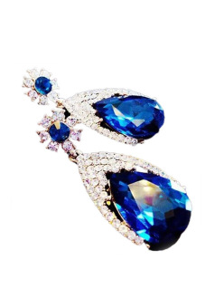 Fancyqube Exaggerated Large Earring Blue (Intl)