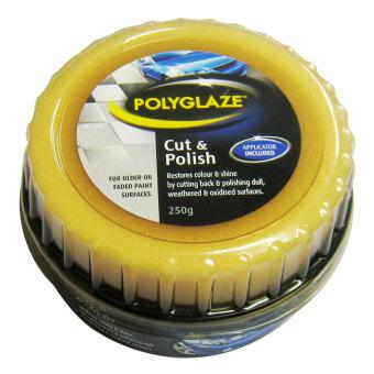 Sáp đánh bóng và phục hồi sơn xe ô tô cao cấp Polyglaze Cut & Polish 250g (Vàng Đen)