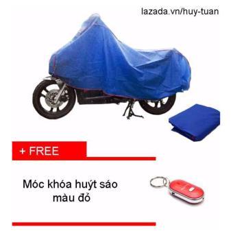 Bạt che xe máy ( màu xanh ) + free móc khóa huýt sáo thông minh ( Đỏ )