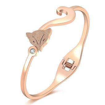 Vòng tay Titan hồ Ly phun cát (Vàng hồng)