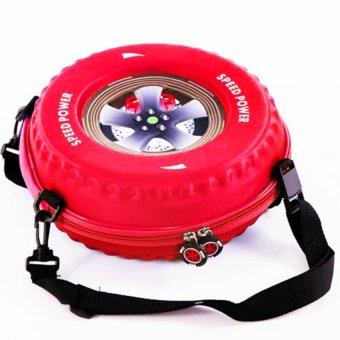 Ba lô hình bánh xe cho bé yêu (Đỏ)