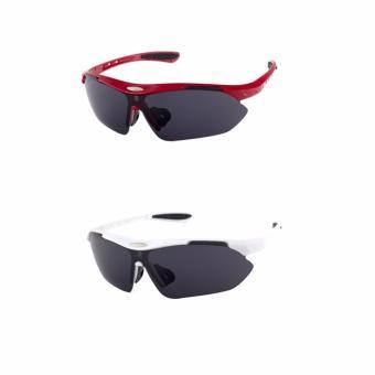 Bộ 2 kính mát thể thao chuyên dụng Maidis (đỏ trắng)
