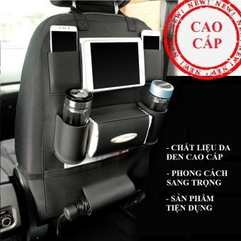 TÚI DA đựng đồ tiện ích treo lưng ghế xe hơi CAO CẤP (Đen)