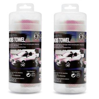 Bộ 2 khăn lau xe ô tô siêu sạch nhỏ TI61 (Hồng)