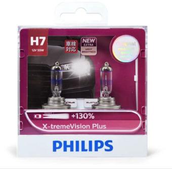 Bộ 2 bóng đèn Philips XstremVision Plus chân H7 tăng sáng 130%