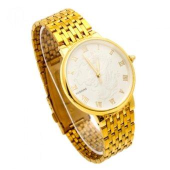 Đồng hồ nam dây thép không gỉ mặt rồng BS001 (Vàng)