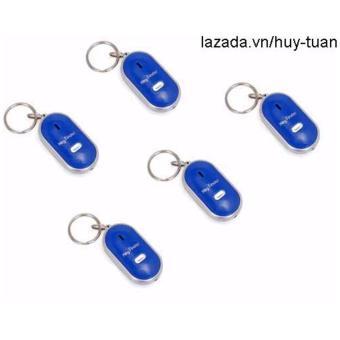 Combo 5 móc khóa huýt sáo thông minh ( Xanh )