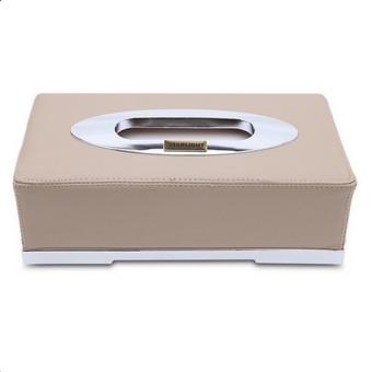 Hộp da đựng giấy ăn trên ô tô CT90 (Be)