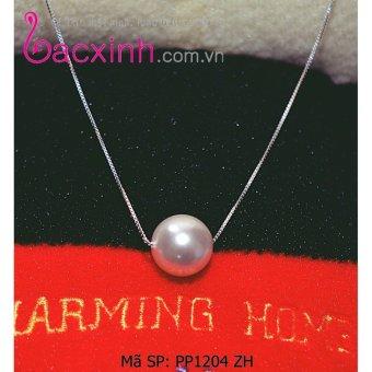Bộ dây chuyền liền mặt trang sức bạc Ý S925 Bạc Xinh - Dây 1 tầng ngọc trai PP1204 ZH