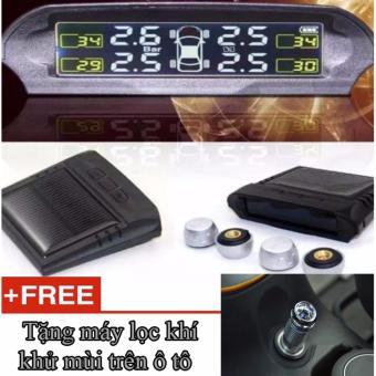 Cảm biến áp suất lốp TP800, dùng năng lượng mặt trời + Tặng Máy khử mùi, cung cấp oxy cho ô tô
