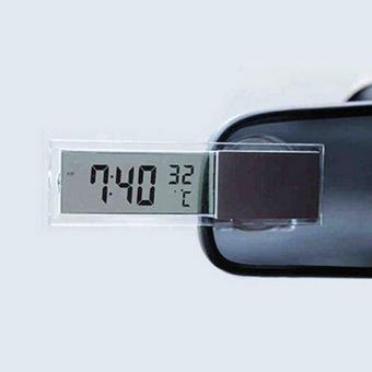 Nhiệt kế và đồng hồ treo gương ô tô