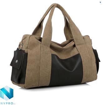 Túi xách du lịch tiện dụng dành cho nam NVPRO 0701 (Nâu)