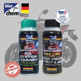 Cặp sản phẩm Bluechem Làm sạch và Bảo vệ Động cơ xe máy