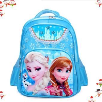 Balô đi học FROZEN công chứa Elsa đáng yêu cho bé gái QSTORE QS62 ( Xanh )