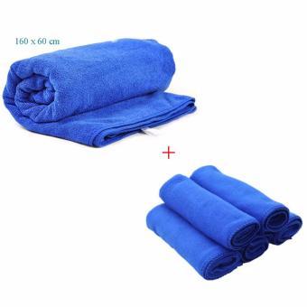 Bộ 6 khăn rửa xe hơi K06 (Xanh)