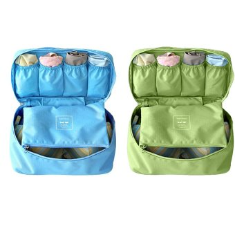 Bộ 2 túi đựng đồ lót du lịch Monopoly (Xanh lam + Xanh rêu)
