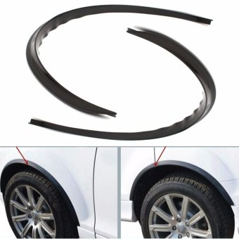 Body Kits Carbon Fender Flare Wheel Eyebrow Sticker For Universal Car 2pcs Black - intl