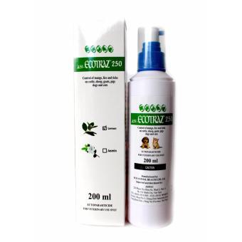 Thuốc xịt/phun/tắm phòng trị ve, rận cho vật nuôi Asi ECOTRAZ 250 (200 ml)