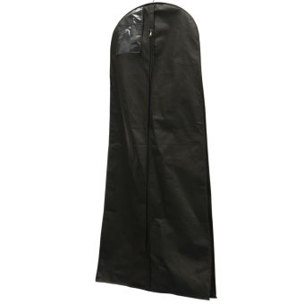 1.8M Showerproof Garment Dress Cover Long Bridal Wedding Dresses Storage Bag Black - Intl