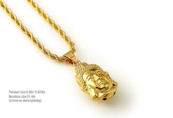 Vòng cổ nam hip hop hình mặt Phật T76 (Vàng)