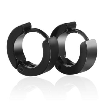 Mua OH Unique Cool Mens Stainless Steel Hoop Piercing Ear Earring Studs (Black) - intl giá tốt nhất