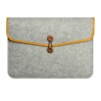Mua For Apple Macbook Buttoned Bladder Bag Air/Pro Felt Protective Sleeve - intl giá tốt nhất