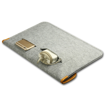 For Apple Macbook Buttoned Bladder Bag Air/Pro Felt Protective Sleeve - intl