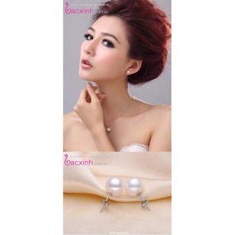 Bông tai nữ trang sức bạc Ý S925 Bạc Xinh - Hạt ngọc trai xinh RYE140659-NT