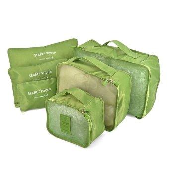 Bộ 6 Túi Đựng Đồ Du Lịch Chống Thấm Bag in Bag (Xanh lá)
