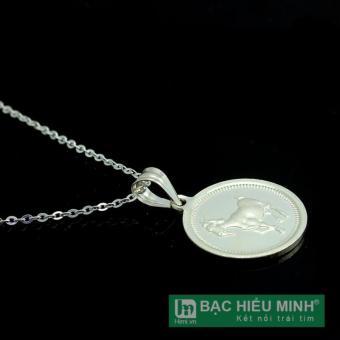 Dây chuyền và mặt dây chuyền trẻ em bằng bạc ta BẠC HIỂU MINH dte012 tuổi mùi
