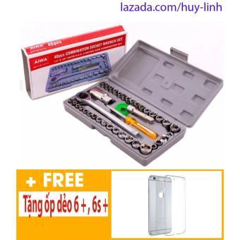 Bộ dụng cụ sửa chữa ô tô, xe máy 40 món + Free ốp dẻo iphone 6 plus, 6s plus