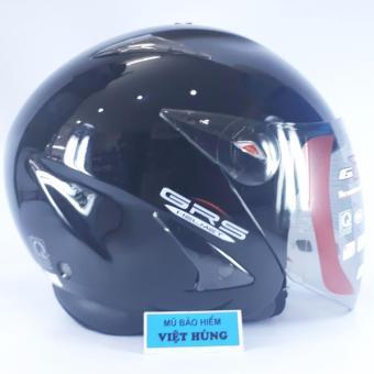 Mũ bảo hiểm GRS A27 (đen bóng)(Đen)
