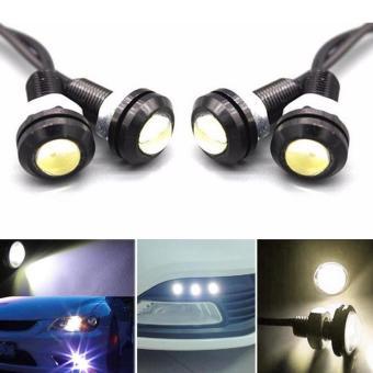 Moonar 2pcs 18mm 9W LED Eagle Eye Bulb Car Fog Daytime Reverse Signal DRL Running Light (Yellow) - intl