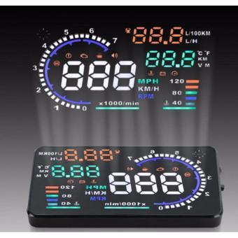 Thiết bị hiển thị tốc độ lên kính lái HUD A8