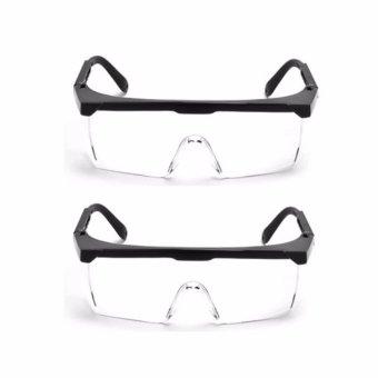 Bộ 02 kính mát đi đường chống bụi bảo vệ mắt (Đen)