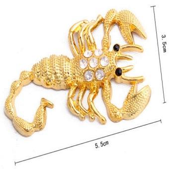 Tem dán kim loại một đôi bọ cạp (Vàng)