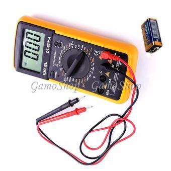 Đồng hồ đo vạn năng Excel DT9205A kèm Pin chuyên sửa điện tử GamoShop (Vàng)