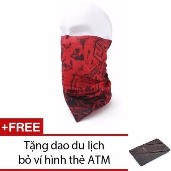 Khăn đa năng đi phượt + Tặng dao mini hình ATM bỏ ví