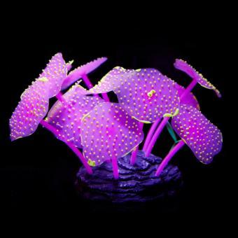 Cây san hô huỳnh quang hình để trang trí bể cá cảnh (màu ngẫu nhiên)
