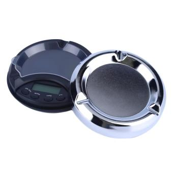 OH 200g/0.01g Digital Precision Pocket Scale Ash Tray Style Weighing Scales Black & Silver - intl