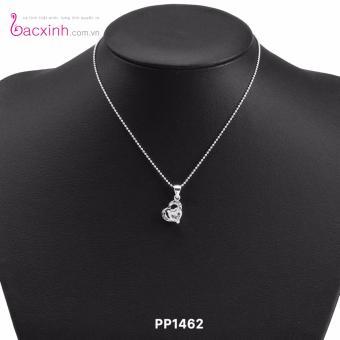 Mặt dây chuyền nữ trang sức bạc Ý S925 Bạc Xinh mặt trái tim xinh PP1462