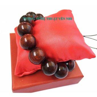 Vòng tay phong thủy cao cấp gỗ Trắc đỏ hạt 16mm