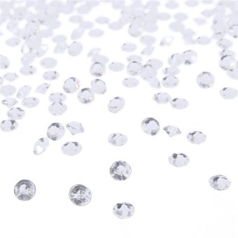 1000x 4.5mm Acrylic Crystal Diamond Confetti Table Scatters Clear Fillers Vase - intl